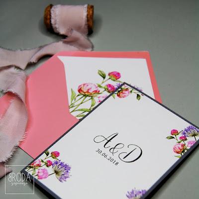 Zaproszenia z motywem kwiatów od Broda Zaprasza.