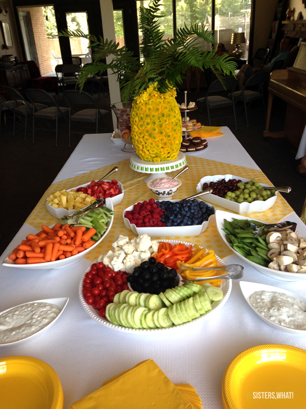 Pineapple Themed Bridal Shower Food