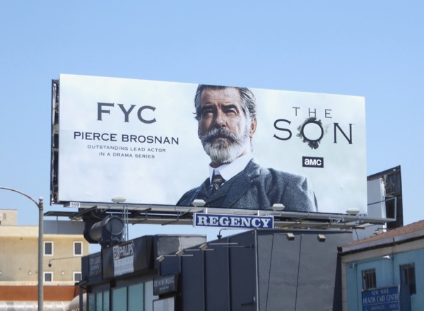 Pierce Brosnan The Son Emmy FYC billboard