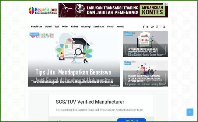 Portal Pendidikan BOSPEDIA untuk Kebutuhan Pembelajaran Online