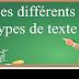 Les différents types de texte