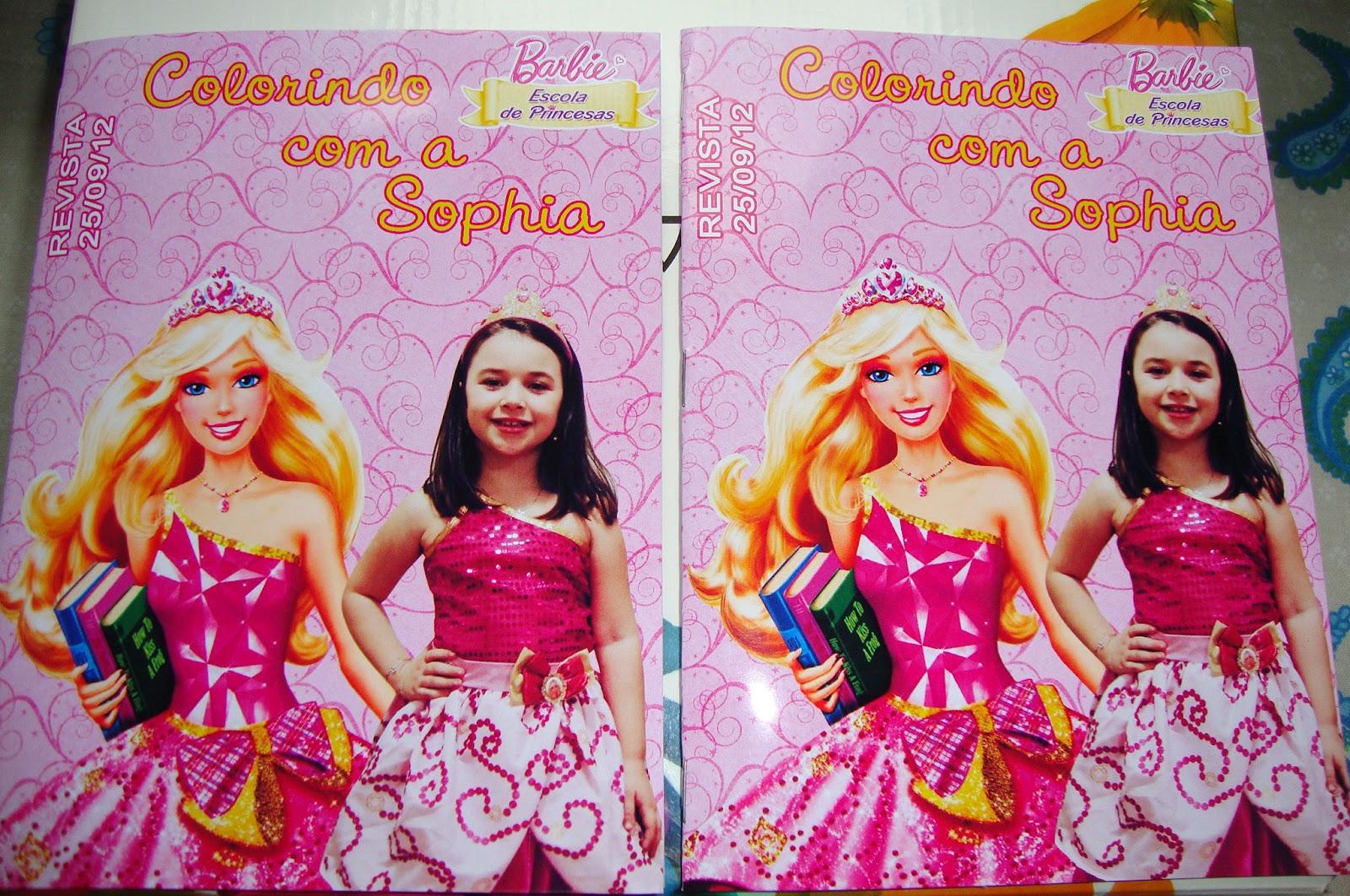 Craft Designer Em Convites: Revista Para Colorir Barbie