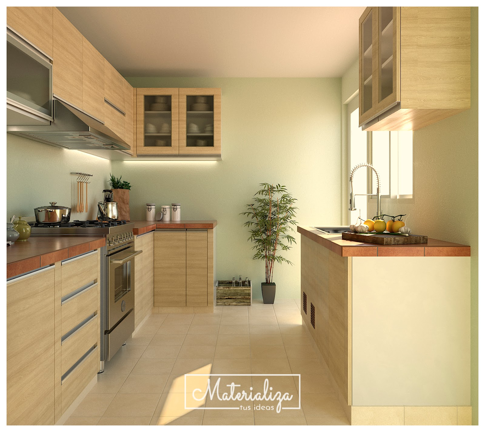 Mueble cocina en melamina carvalo for Mueble de cocina con pileta