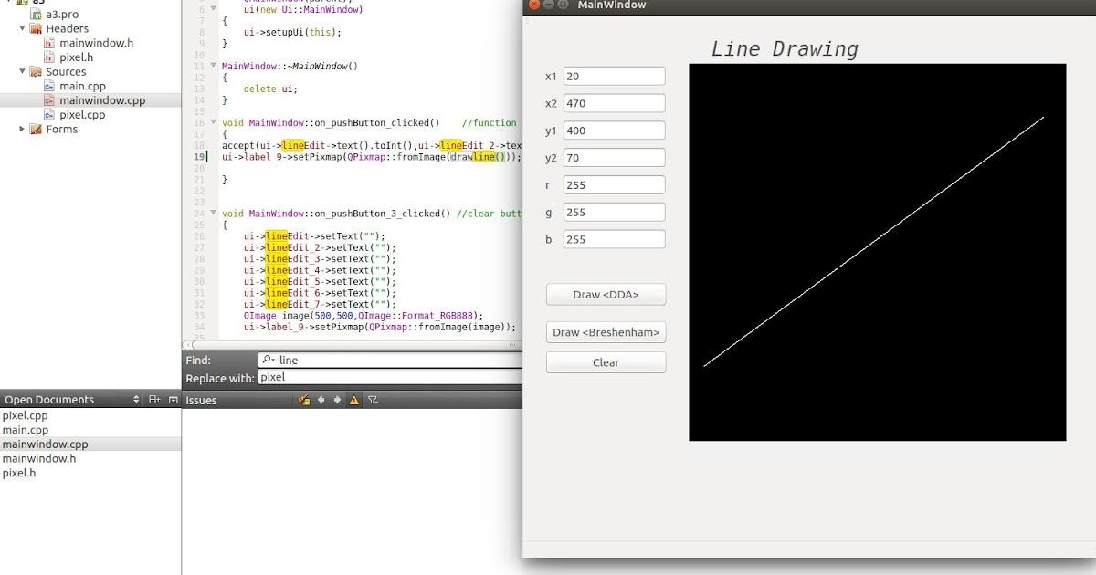 Dda Line Drawing Algorithm In Linux : Programing wonders line drawing using dda and bresenham