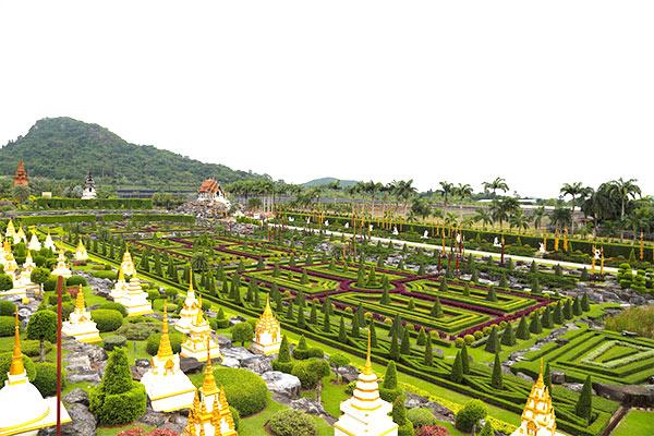 Vườn nhiệt đới, vườn hoa Nong Nooch Thái Lan