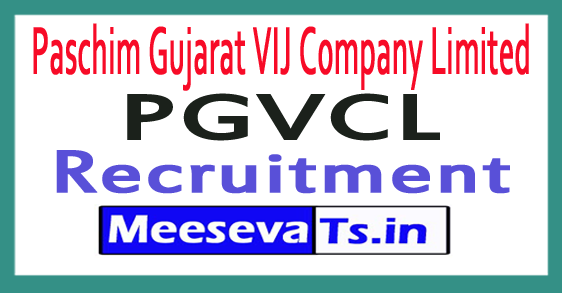 Paschim Gujarat VIJ Company Limited PGVCL Recruitment Notification 2017