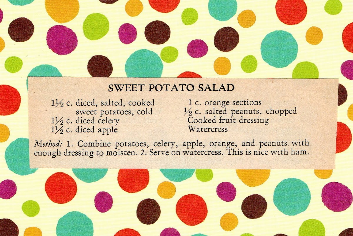 Sweet Potato Salad (quick recipe)