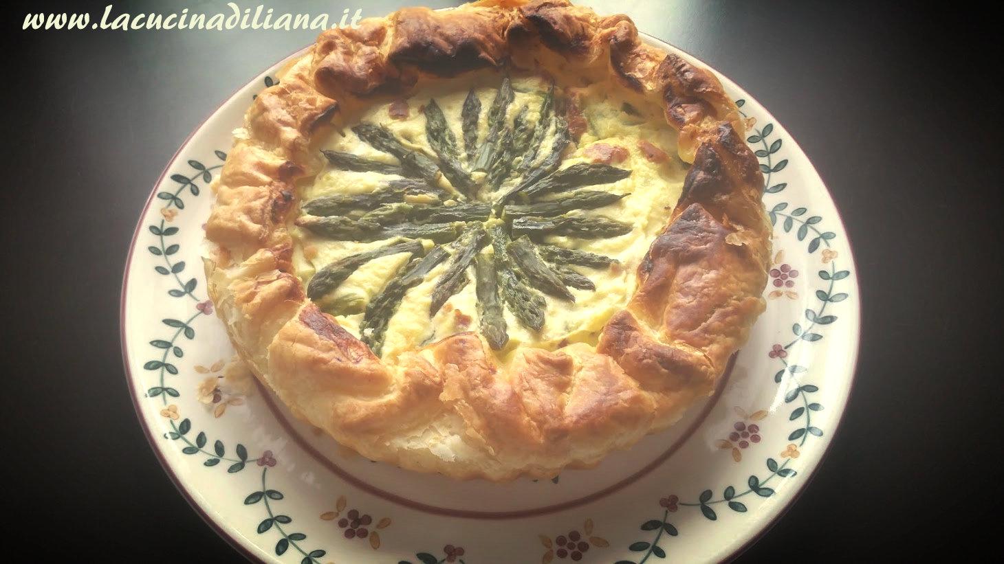 Quiche con Asparagi Pancetta e Ricotta ~ La Cucina di Liana