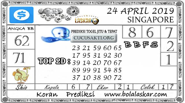 Prediksi Togel SINGAPORE LASKAR4D 24 APRIL 2019