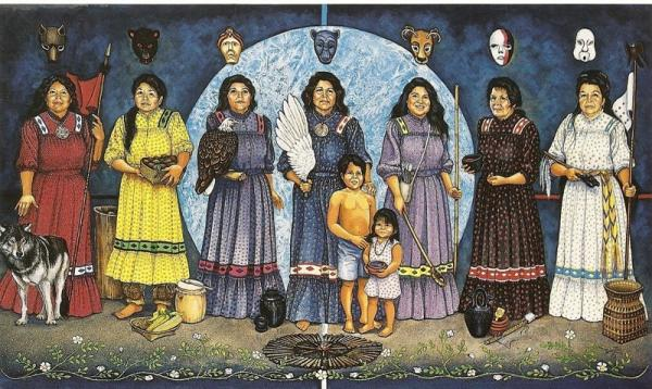 White wolf cherokee women and their important roles for Art and appetite american painting culture and cuisine