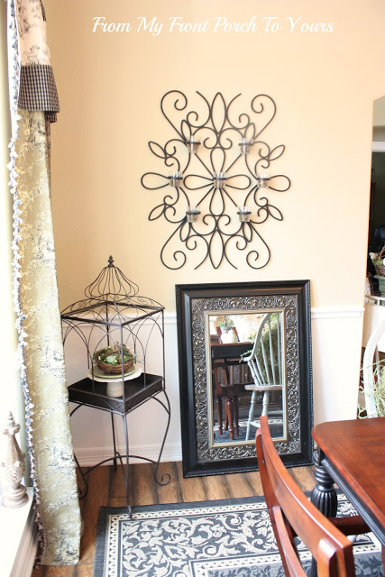 From My Front Porch To Yours-  Dining Room Corner Before
