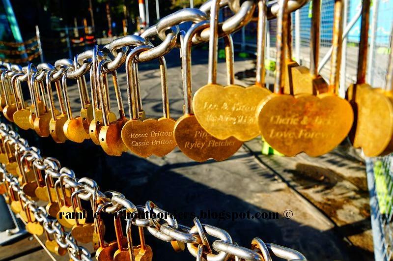 Love locks at the Bells Tower, Perth, WA, Australia