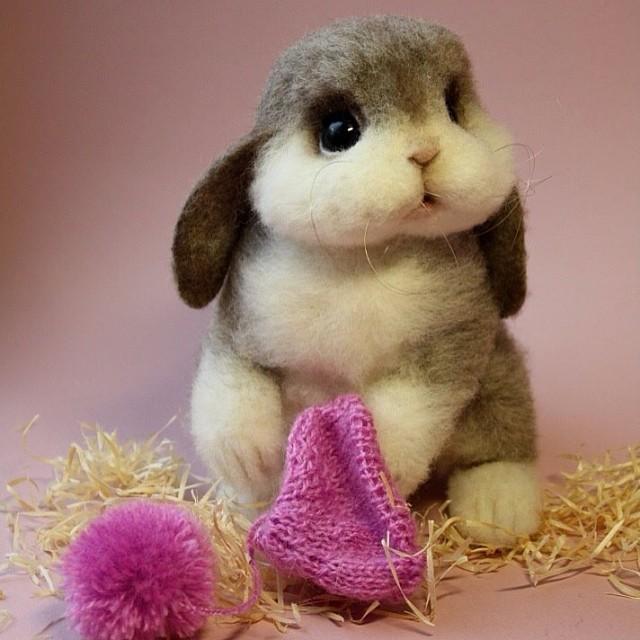 A adorável fofura dos animais de Lã de Tatiana Barakova