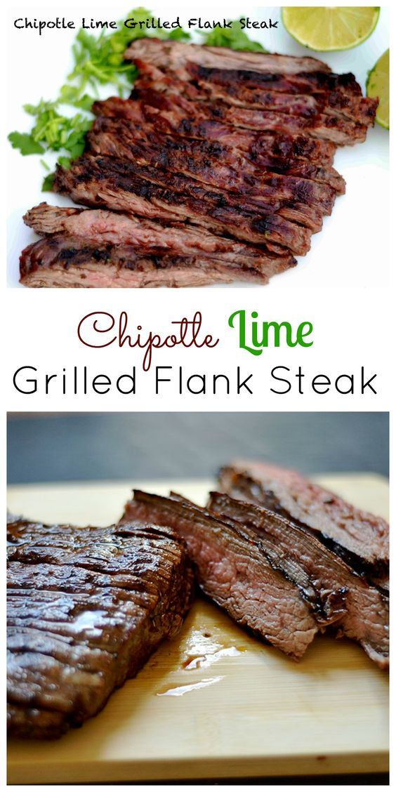 CHIPOTLE LIME GRILLED FLANK STEAK #chipotle #lime #grilled #flanksteak #steak #lunchrecipes #lunchideas