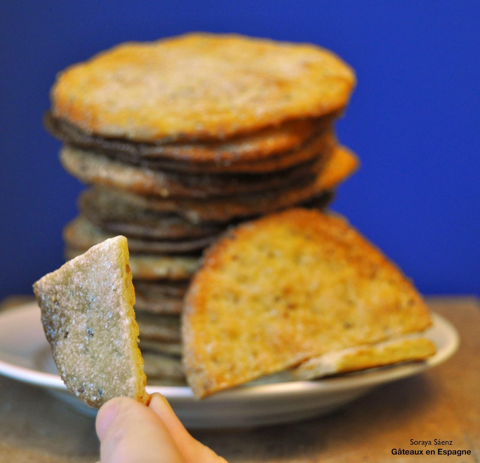 recette biscuits sesame anis vert