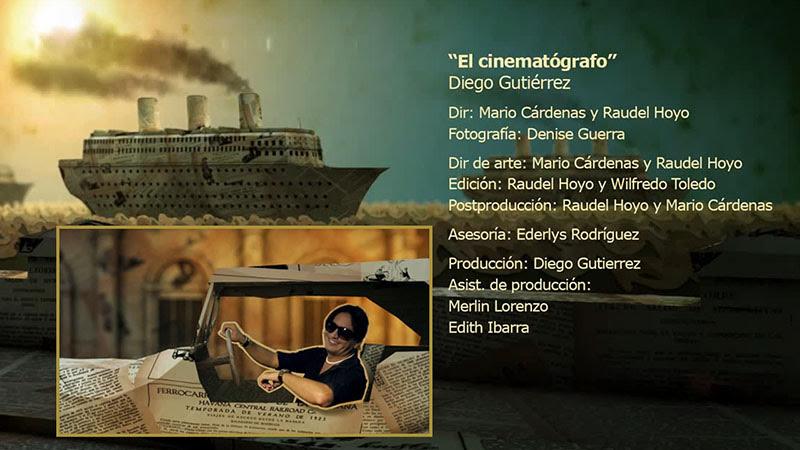 Diego Gutiérrez - ¨El cinematógrafo¨ - Videoclip - Dirección: Mario Cárdenas - Raudel Hoyo. Portal Del Vídeo Clip Cubano - 01