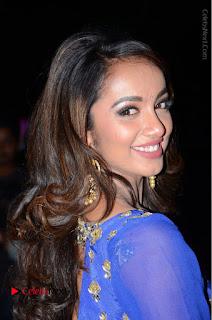 Telugu Actress Tejaswi Madivada Pos in Blue Long Dress at Nanna Nenu Na Boyfriends Audio Launch  0015.JPG