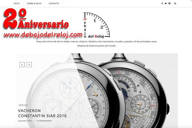 2º ANIVERSARIO del blog Debajo del Reloj