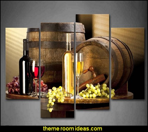 Wine With Grape Wall Art Painting Pictures Print On Canvas Food The Picture For Home Modern Decoration
