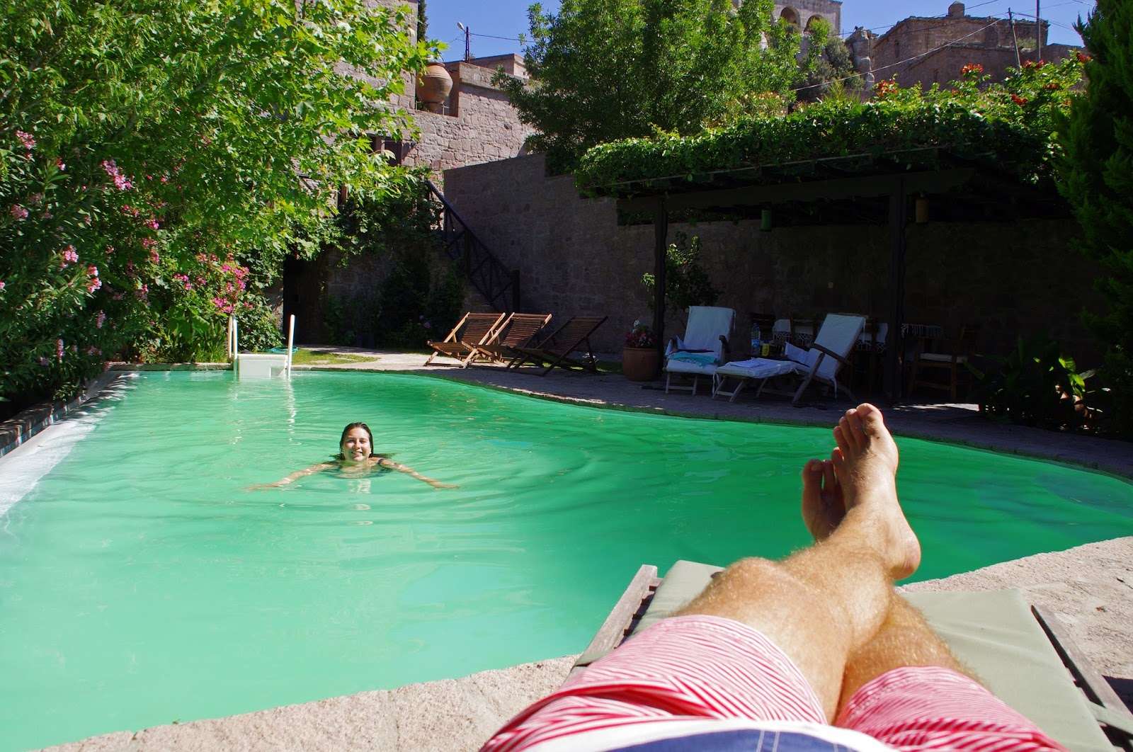 Relaxing and swimming at Assos Alarga Boutique Hotel
