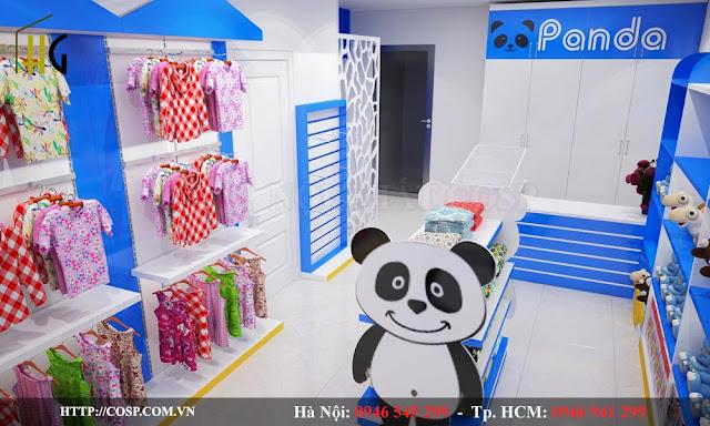 thiết kế cửa hàng thời trang trẻ em giá rẻ