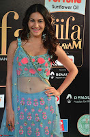 Amyra Dastur in Flower Print Choli Transparent Chunni at IIFA Utsavam Awards 06.JPG