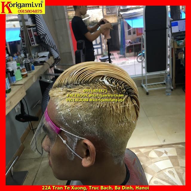 Dạy học tẩy nhuộm tóc nam tra thuốc đúng cách không lem không sáng chân ...
