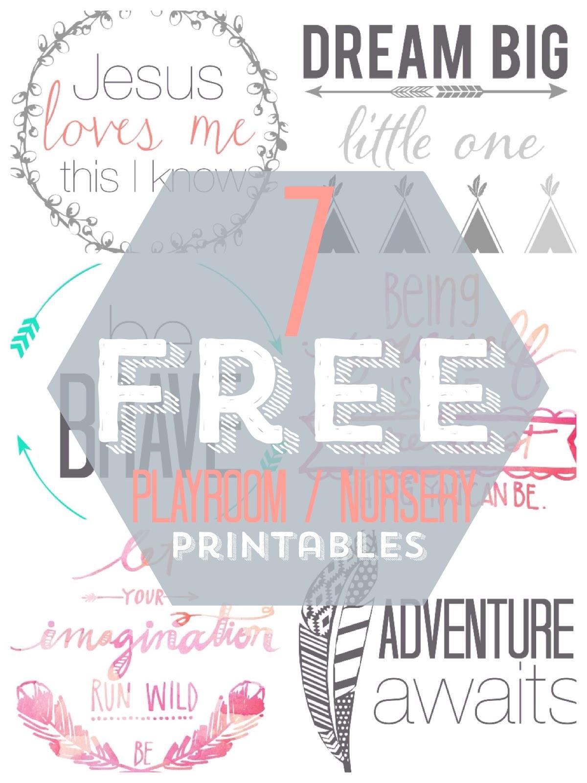 Joyful Life 7 Free Playroom Nursery Printables