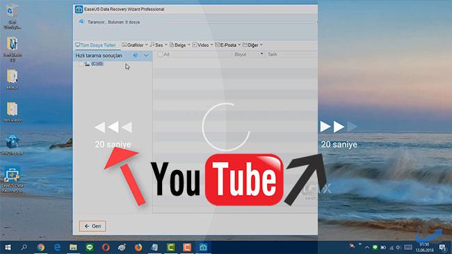 Youtube Videosu İzlerken iki Dokunuş ile ileri Geri Sar