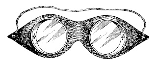 vintage goggles image illustration digital clipart