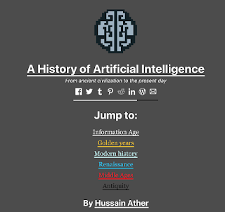 A History of Artificial Intelligence