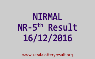 NIRMAL NR 5 Lottery Results 16-12-2016
