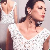 Blusa Cuello en V a Crochet