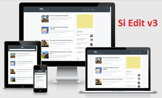 si edit responsive fast loading blogger template