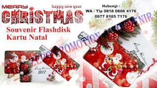 Flashdisk Kartu Untuk Souvenir Natal
