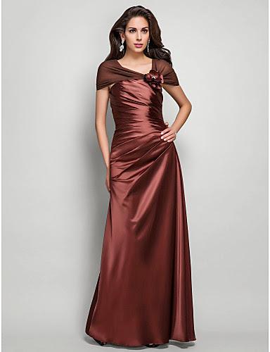 gaun malam coklat