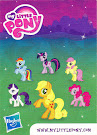 My Little Pony Wave 6 Applejack Blind Bag Card