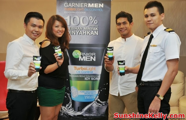 Garnier Men Be In Control, Garnier Men Turbo Light Oil Control, Garnier Men, Turbo Light Oil Control, be in control, simflightkl, subang skypark, garnier, Frederick, Jannifer, Fahrin, Danial