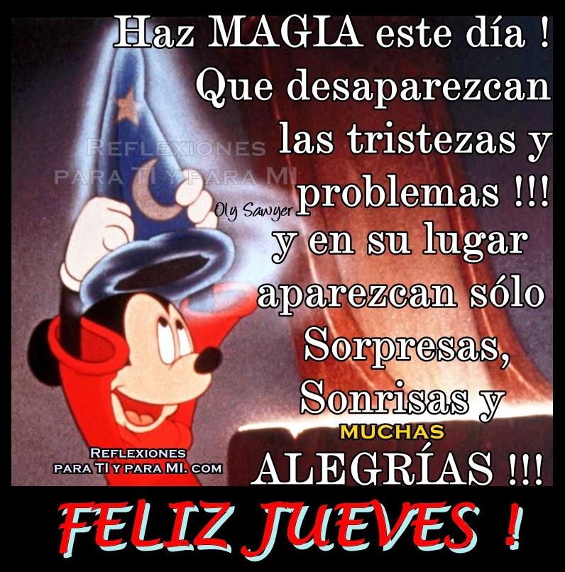 Haz MAGIA este día ! Que desaparezcan las tristezas y problemas !!!