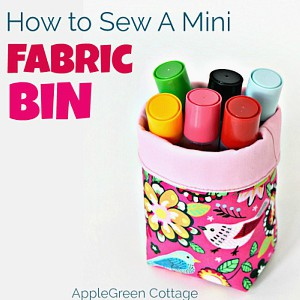 Fabric Bin Tutorial