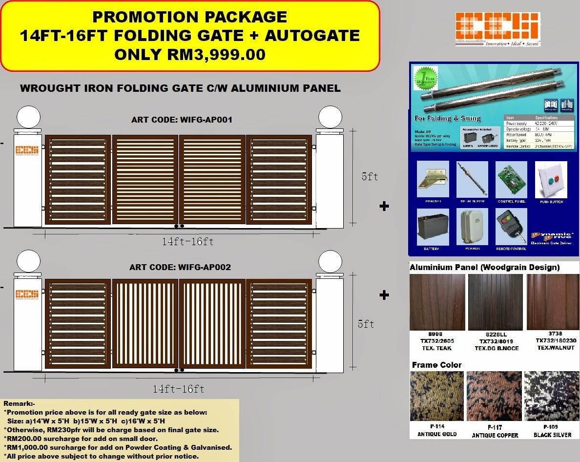 Gates Wrought Iron | Fence | Poly Skylight | Awning | Autogate Malaysia