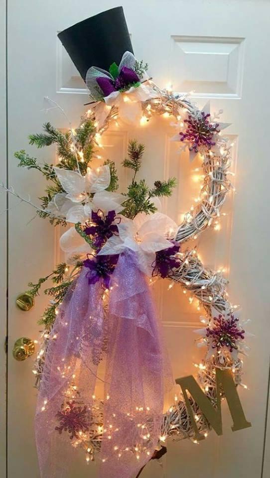 Decoracin De Navidad Para Puertas Puertas Navideas Para El Cuarto - Coronas-de-navidad-para-puertas