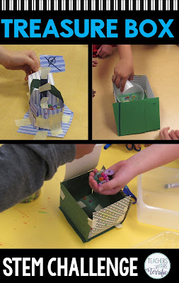 "STEM Challenge: Read ""How I Became a Pirate"" and then build a small treasure box! Check this blog post for more!"