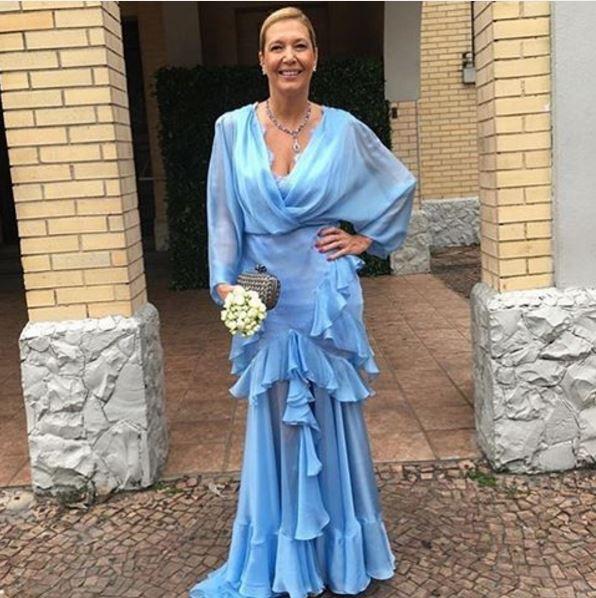 Donata Meirelles casamento da filha Helena Bordon, vestido Sandro Barros