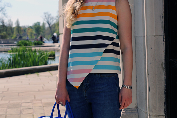 zara stripe top fashion bloggers