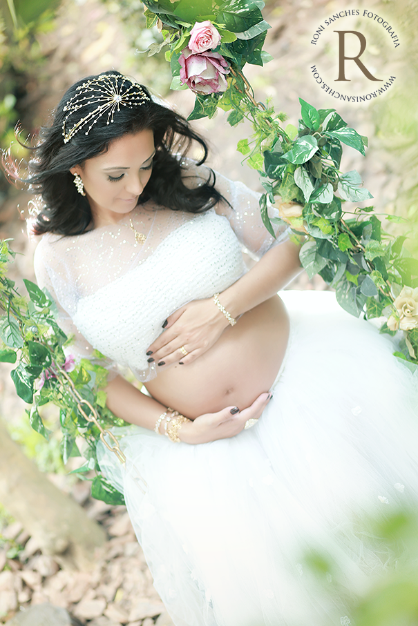 foto de gravida no balanço