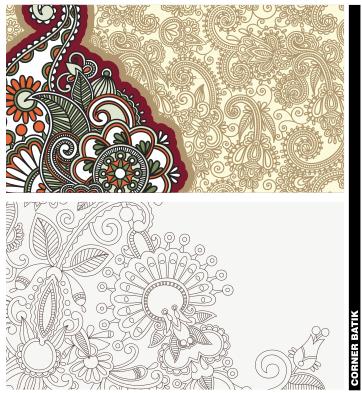 Corner Batik Format Coreldraw Belajar Gambar Cdr