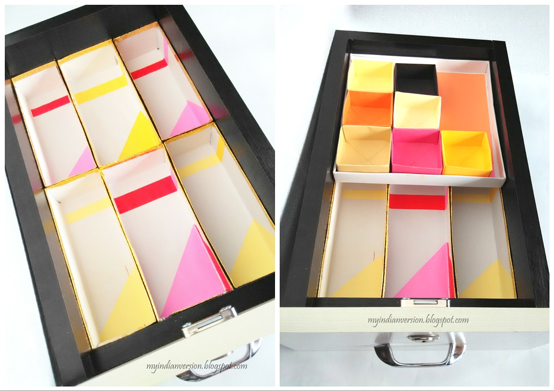 My indian version march 2016 diy decorated cereal boxes turned drawer inserts for solutioingenieria Image collections