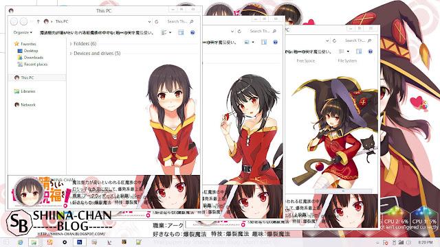 Download Tema Windows 8/8.1 Megumin - Kono Subarashii Sekai ni Shukufuku wo!