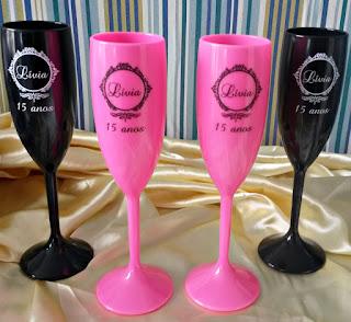 taças de acrílico personalizadas para lembrancinhas de aniversário